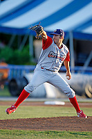 June 22, 2009:  Starting Pitcher Nicholas Hernandez of the Williamsport Crosscutters during a game at Dwyer Stadium in Batavia, NY.  The Crosscutters are the NY-Penn League Short-Season Single-A affiliate of the Philadelphia Phillies.  Photo by:  Mike Janes/Four Seam Images