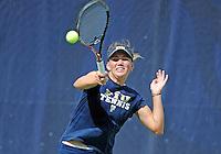 Florida International University tennis player Rita Maisak plays against the University of Pennsylvania.  FIU won the match 4-3 on March 9, 2012 at Miami, Florida. .