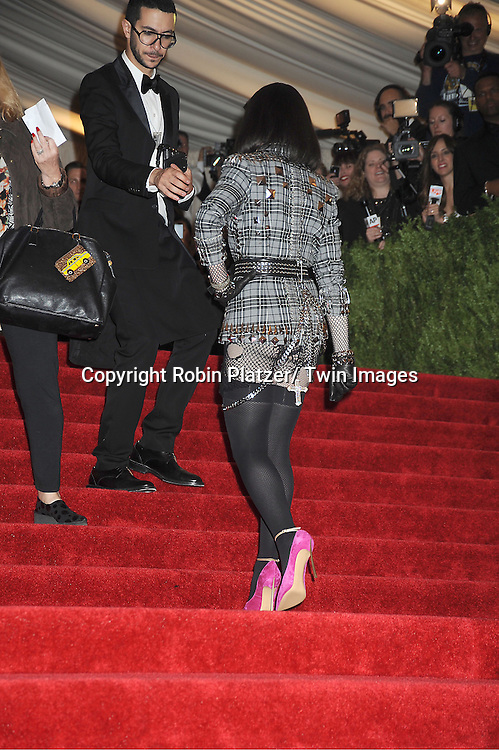 Madonna in Givenchy attends  the Metropolitan Museum of Art Costume Institute Beneift celebrating the opening of  PUNK: Chaos .to Couture on May 6, 2013 in New York City.