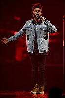 MIAMI, FL - OCTOBER 24: The Weeknd performs at the AmericanAirlines Arena on October 24, 2017 in Miami Florida. Credit: mpi04/MediaPunch /nortePhoto.com