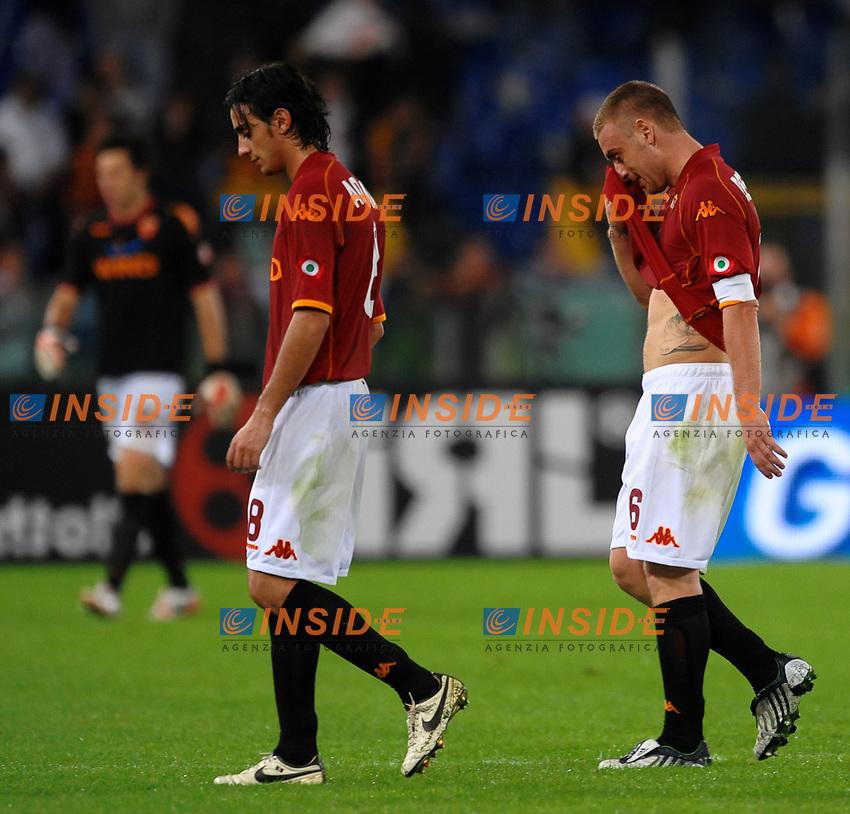 """delusione de rossi aquilani e doni<br /> Roma 19/10/2008 Stadio """"Olimpico"""" <br /> Campionato Italiano Serie A 2008/2009<br /> Roma Inter<br /> Foto Andrea Staccioli Insidefoto"""