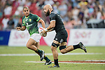 DJ Forbes of New Zealand runs with the ball during the match South Africa vs New Zealand, Day 2 of the HSBC Singapore Rugby Sevens as part of the World Rugby HSBC World Rugby Sevens Series 2016-17 at the National Stadium on 16 April 2017 in Singapore. Photo by Victor Fraile / Power Sport Images