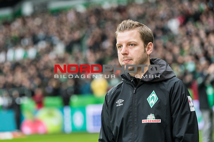 10.02.2019, Weserstadion, Bremen, GER, 1.FBL, Werder Bremen vs FC Augsburg<br /> <br /> DFL REGULATIONS PROHIBIT ANY USE OF PHOTOGRAPHS AS IMAGE SEQUENCES AND/OR QUASI-VIDEO.<br /> <br /> im Bild / picture shows<br /> Florian Kohfeldt (Trainer SV Werder Bremen), <br /> <br /> Foto © nordphoto / Ewert