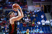 5th September 2017, Fenerbahce Arena, Istanbul, Turkey; FIBA Eurobasket Group D; Turkey versus Belgium; Power Forward Maxime De Zeeuw #14 of Belgium shoots for three points during the match
