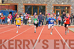 Eoghan O'Connor Tarbert shows great technique to win the Boys 100m u10 semi final during the Kerry Community Games finals on Sunday ahead of Eoin Hassett Killorglin, Shane Griffin Ballyduff and Joshua Coffey Beaufort