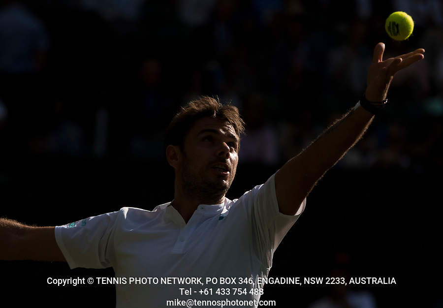 STAN WAWRINKA (SUI)<br /> <br /> TENNIS - THE CHAMPIONSHIPS - WIMBLEDON- ALL ENGLAND LAWN TENNIS AND CROQUET CLUB - ATP - WTA -ITF - WIMBLEDON-SW19, LONDON, GREAT  BRITAIN- 2017  <br /> <br /> <br /> &copy; TENNIS PHOTO NETWORK