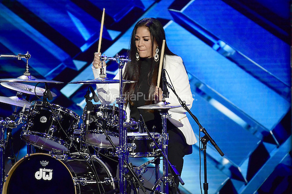 Sheila E + Family performs during the fourth session of the 2016 Democratic National Convention at the Wells Fargo Center in Philadelphia, Pennsylvania on Thursday, July 28, 2016.<br /> Credit: Ron Sachs / CNP/MediaPunch<br /> (RESTRICTION: NO New York or New Jersey Newspapers or newspapers within a 75 mile radius of New York City)
