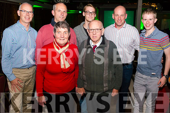 Kerry Film Festival Awards night in the Gleneagle Hotel, Killarney last Saturday night. Pictured front Mary and Seamus O'Sullivan Darcy from Killarney, back l-r Adrien Galliers from Kent, UK, Peter Fan Benthem from Killarney, Sam Marry from Gelbeigh, Rob Bais from Currow and Daragh Beeston from Beaufort