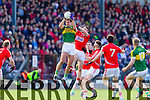 Anthony Maher Kerry in action against John O'Rourke Cork in the National Football League at Pairc Ui Rinn, Cork on Sunday.