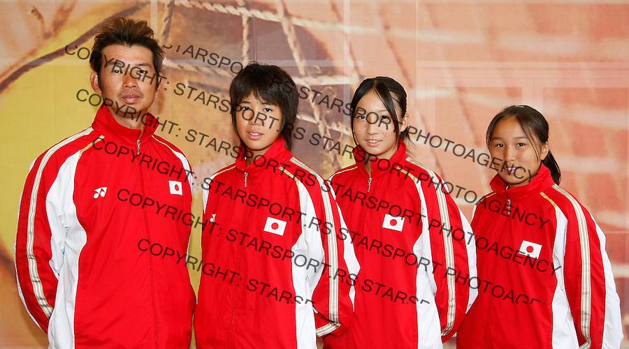 Tenis, World Championship U-14.Official team photo.Japan girls  team.from left, Yoshimori Nakayama, Mami Adachi, Yukino Emi and Hitomi Watanabe.Prostejov, 03.08.2010..foto: Srdjan Stevanovic/Starsportphoto ©