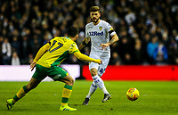 Leeds United's Mateusz Klich plays the ball past Norwich City's Emi Buendia<br /> <br /> Photographer Alex Dodd/CameraSport<br /> <br /> The EFL Sky Bet Championship - Leeds United v Norwich City - Saturday 2nd February 2019 - Elland Road - Leeds<br /> <br /> World Copyright © 2019 CameraSport. All rights reserved. 43 Linden Ave. Countesthorpe. Leicester. England. LE8 5PG - Tel: +44 (0) 116 277 4147 - admin@camerasport.com - www.camerasport.com