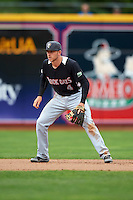 New Britain Rock Cats shortstop Trevor Story (4) during a game against the Akron RubberDucks on May 21, 2015 at Canal Park in Akron, Ohio.  Akron defeated New Britain 4-2.  (Mike Janes/Four Seam Images)