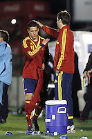 Spain's Tello and Jueln Lopetegui during an International sub21 match. March 21, 2013.(ALTERPHOTOS/Alconada) /NortePhoto