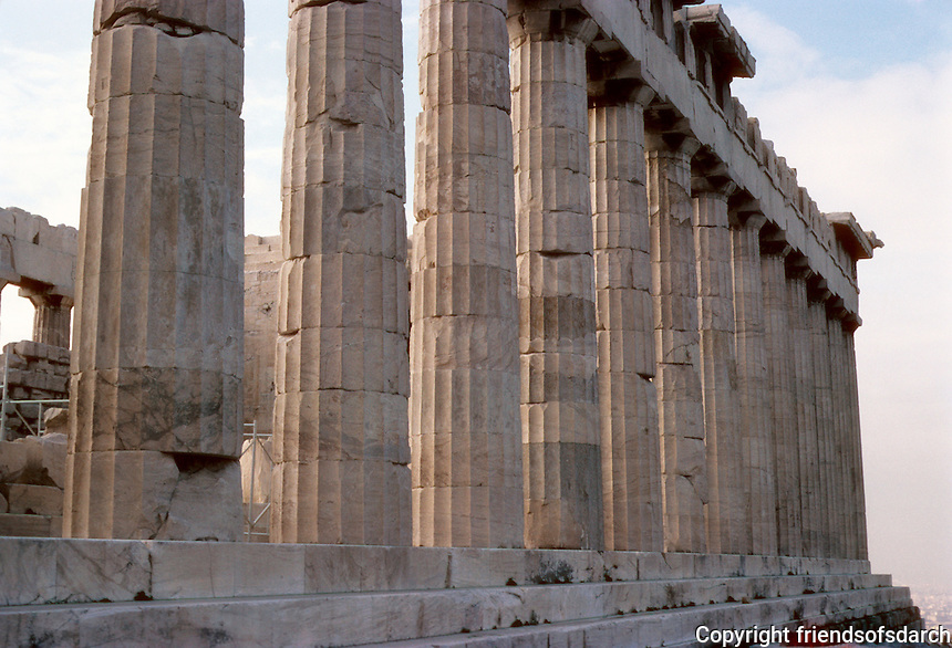 Athens: The Parthenon--North side. Photo '82.