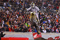 2014 Supercross at Daytona International Speedway, Daytona Beach, FL, February 19, 2014.  Photographed with a Canon 70D dslr and Canon EF 300mm f2.8 lens. (Photo by Brian Cleary/www.bcpix.com)