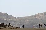 Foto: VidiPhoto..PLAYA DE LAS AMERICAS - Het vulkanische binnenland van Tenerife. Tenerife is het grootste eiland van de Canarische Eilanden, een tot Spanje behorende eilandengroep in de Atlantische Oceaan, 200 km van de kust van Marokko en de Westelijke Sahara. Tenerife heeft de meeste inwoners en met ruim 1 miljoen mensen op 2057 vierkante kilometer is het het dichtstbevolkte eiland van Spanje. Het eiland is van vulkanische oorsprong. De grootste vulkaan van het eiland is El Teide, die met 3718 meter ook de hoogste berg van het grondgebied van Spanje is..