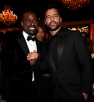 BEVERLY HILLS - JANUARY 7: L-R: Sterling K. Brown and Ricky Martin attend the 2018 Fox Nominee Party for the 75th Annual Golden Globe Awards at the Fox Terrace on the Roof Deck of the Beverly Hilton on January 7, 2018, in Beverly Hills, California. (Photo by Frank Micelotta/Fox/PictureGroup)