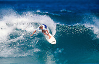Lisa Andersen (USA) 1994 Women's World Surfing Champion with surfing during the  Newcastle Pro. Photo: joliphotos