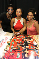 NEW ORLEANS, LA - JULY 2, 2016 Jessie Usher, Keri Hilson & Kimberly Elise backstage at the Essence Festival, July 2, 2016 at The New Orleans Convention Center in New Orleans Louisiana. Photo Credit: Walik Goshorn / Media Punch