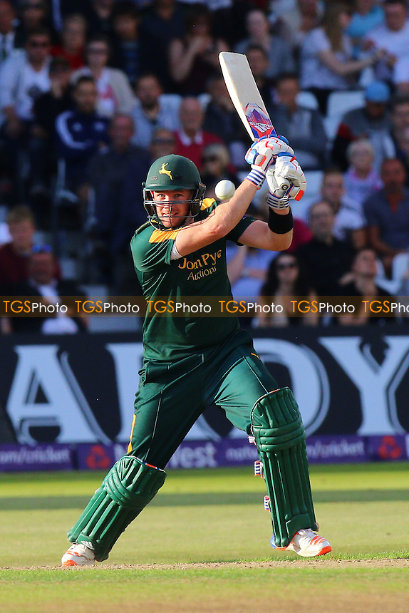 Riki Wessels in batting action for Notts during Notts Outlaws vs Essex Eagles, NatWest T20 Blast Cricket at Trent Bridge on 8th August 2016