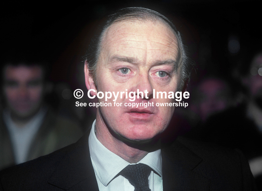 Barney Eastwood, Belfast, N Ireland, proprietor, chain of bookmakers, boxing promoter, 1982020008BE1.<br />