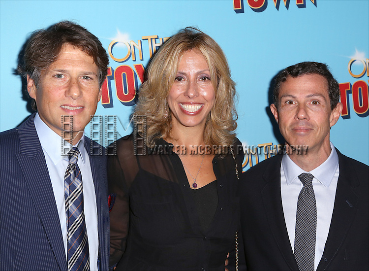 Jeffrey Kaplan, Amanda Green and Adam Green attend the Broadway Opening Night Performance of 'On The Town'  at the Lyric Theatre on October 16, 2014 in New York City.