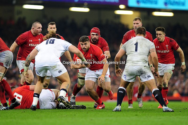 Pictured: Nicky Smith of Wales in action during the Guinness six nations match between Wales and England at the Principality Stadium, Cardiff, Wales, UK.<br /> Saturday 23 February 2019