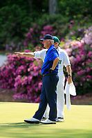 Sandy Lyle (SCO) on the 13th green during the 1st round at the The Masters , Augusta National, Augusta, Georgia, USA. 11/04/2019.<br /> Picture Fran Caffrey / Golffile.ie<br /> <br /> All photo usage must carry mandatory copyright credit (&copy; Golffile | Fran Caffrey)