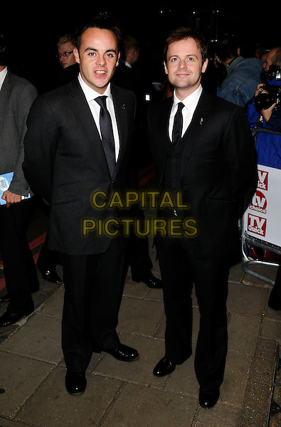 ANTHONY McPARTLIN & DECLAN DONNELLY.The TVQuick & TVChoice Awards, Dorchester Hotel, London, England. .September 8th, 2008 .tv quick choice full length black suit ant and dec.CAP/CAN.©Can Nguyen/Capital Pictures.