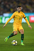 June 13th 2017, Melbourne Cricket Ground, Melbourne, Australia; International Football Friendly; Brazil versus Australia; Mathew Leckie of Australia brings the ball forward