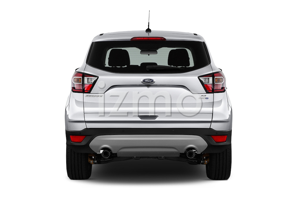 Straight rear view of 2017 Ford Escape SE 5 Door SUV Rear View  stock images