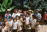 Danang, February 1988. Group of children of the City we can see in each of the pictures some Amerasian children.