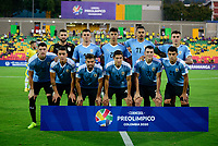 BUCARAMANGA - COLOMBIA, 06-02-2020: Brasil U-23 Y Uruguay U-23 en partido por el cuadrangular final como parte del torneo CONMEBOL Preolímpico Colombia 2020 jugado en el estadio Alfonso Lopez en Bucaramanga, Colombia. / Brazil U-23 and Uruguay U-23 in match for the final quadrangular as part of CONMEBOL Pre-Olympic Tournament Colombia 2020 played at Alfonso Lopez stadium in Bucaramanga, Colombia. Photo: VizzorImage / Jaime Moreno / Cont