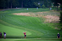 Hyo Joo Kim (KOR) watches her approach shot on 8 during Thursday's first round of the 72nd U.S. Women's Open Championship, at Trump National Golf Club, Bedminster, New Jersey. 7/13/2017.<br /> Picture: Golffile | Ken Murray<br /> <br /> <br /> All photo usage must carry mandatory copyright credit (&copy; Golffile | Ken Murray)