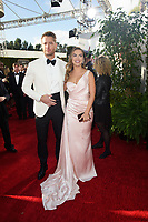 Justin Hartley and Chrishell Stause arrive at the 76th Annual Golden Globe Awards at the Beverly Hilton in Beverly Hills, CA on Sunday, January 6, 2019.<br /> *Editorial Use Only*<br /> CAP/PLF/HFPA<br /> Image supplied by Capital Pictures