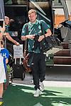 04.07.2019, DasPosthotel, Zell am Ziller, AUT, TL Werder Bremen Zell am Ziller / Zillertal Tag 00<br /> <br /> im Bild<br /> Florian Kohfeldt (Trainer SV Werder Bremen), <br /> bei Ankunft der Spieler / Trainerteam am Teamhotel, <br /> <br /> Foto © nordphoto / Ewert