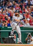 29 July 2017: Colorado Rockies outfielder Charlie Blackmon in action against the Washington Nationals at Nationals Park in Washington, DC. The Rockies defeated the Nationals 4-2 in the first game of their 3-game weekend series. Mandatory Credit: Ed Wolfstein Photo *** RAW (NEF) Image File Available ***