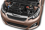 Car Stock 2014 Peugeot 108 Allure 5 Door Micro Car 2WD Engine high angle detail view