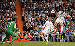 Real Madrid's foward Gareth Bale during the Spanish league football match Real Madrid vs Athletic Club Bilbao at the Santiago Bernabeu stadium in Madrid on October 5, 2014. Daniel Calleja/Photocall3000