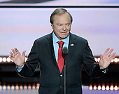 Harold Hamm, CEO, Continental Resources, makes remarks at the 2016 Republican National Convention held at the Quicken Loans Arena in Cleveland, Ohio on Wednesday, July 20, 2016.<br /> Credit: Ron Sachs / CNP<br /> (RESTRICTION: NO New York or New Jersey Newspapers or newspapers within a 75 mile radius of New York City)