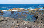 Atlantic coast in south west corner,  Los Charcones, Caleta Negra bay, near Playa Blanca, Lanzarote, Canary islands, Spain