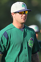 Beloit Snappers shortstop Tyler Grimes #11 prior to a game against the Kane County Cougars at Fifth Third Bank Ballpark on June 26, 2012 in Geneva, Illinois. Beloit defeated Kane County 8-0. (Brace Hemmelgarn/Four Seam Images)