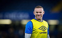 Wayne Rooney of Everton pre match warm ups during the Carabao Cup round of 16 match between Chelsea and Everton at Stamford Bridge, London, England on 25 October 2017. Photo by Andy Rowland.