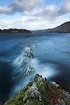 Moving waters on a lake at Kailpot Crag, Ullswater, Lake District, Cumbria, England