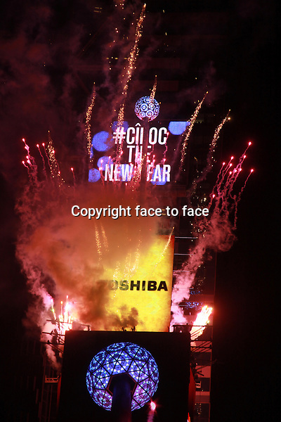 New York, NY-December 31: Atmosphere at the 2014 New Years Eve Celebration held in Times Square on December 31, 2013 in New York City.<br /> Credit: MediaPunch/face to face<br /> - Germany, Austria, Switzerland, Eastern Europe, Australia, UK, USA, Taiwan, Singapore, China, Malaysia, Thailand, Sweden, Estonia, Latvia and Lithuania rights only -