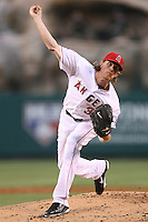 06/08/11 Anaheim, CA: Los Angeles Angels starting pitcher Jered Weaver #36 during an MLB game between the Tampa Bay Rays and The Los Angeles Angels  played at Angel Stadium. The Rays defeated the Angels 4-3 in 10 innings