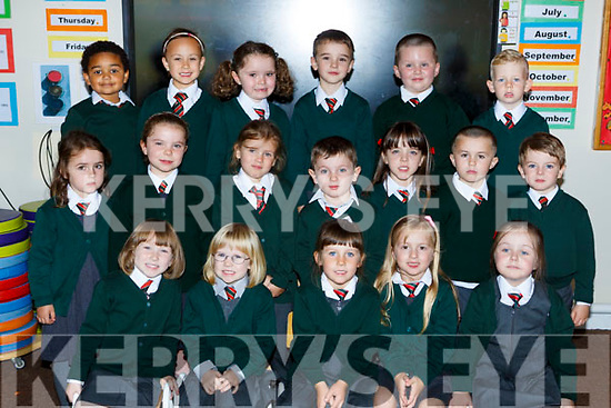 Firies NS junior infants on their first day of school on Wednesday front row l-r: Jane foley, Kate O'Connor, Olivia Prenderville, Maria Scanlon, Ayda O'Leary. Middle row: Emma Falvey, Lily O'Connell, Ayella Nel, Christopher Brosnan, Anna Fitzgerald, Gavin Moynihan, Conor Redmond. Back row: Aoibheann Pavlovic,, Zoe Oleksiak, Isabella Thompson, Diarmuid Fitzgerald, Oisin McCarron and Jack Sheedy