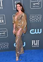 SANTA MONICA, USA. January 12, 2020: Anne Hathaway at the 25th Annual Critics' Choice Awards at the Barker Hangar, Santa Monica.<br /> Picture: Paul Smith/Featureflash