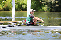 Race: 69  MasB.1x  Quarter-Final<br /> 3  Nottinghamshire County Rowing Association (Jephcote)<br /> 6  Hillingdon Rowing Club (Perez-Milans)<br /> <br /> Henley Masters Regatta 2018 - Friday<br /> <br /> To purchase this photo, or to see pricing information for Prints and Downloads, click the blue 'Add to Cart' button at the top-right of the page.