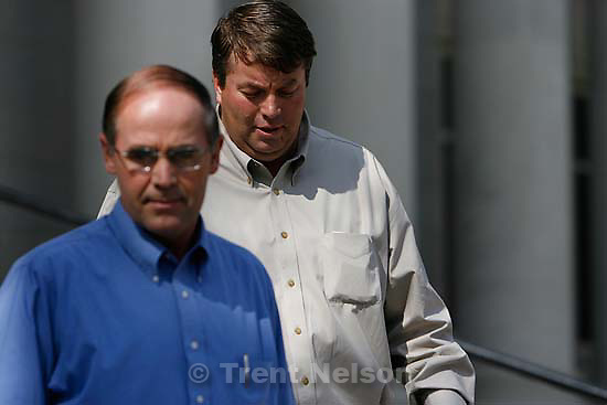 "San Angelo -  A hearing at the 51st District Court Wednesday, April 9, 2008, where a judge ruled three members of the FLDS polygamous sect have the legal right to challenge the massive search underway on their property near Eldorado, the YFZ ""Yearning for Zion"" Ranch.; 04.09.2008 Richard Wright, Willie Jessop"